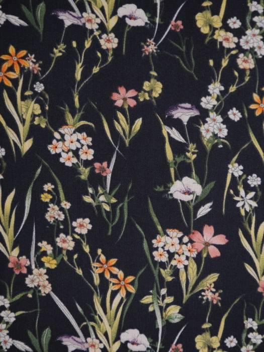 Elegancki komplet damski, granatowa sukienka z szyfonową bluzką 28936