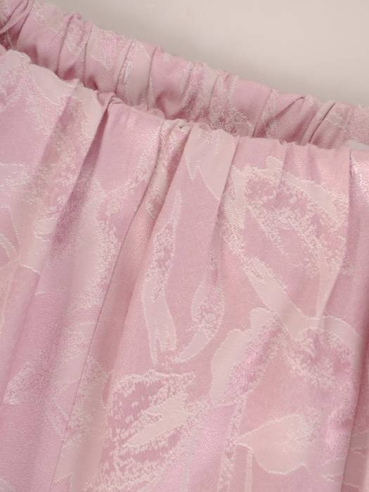 Elegancki komplet damski, pudrowa spódnica z bluzką 29580