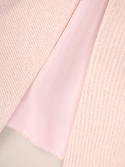 Elegancki kostium damski z żakardową sukienką zdobioną perłami 31142