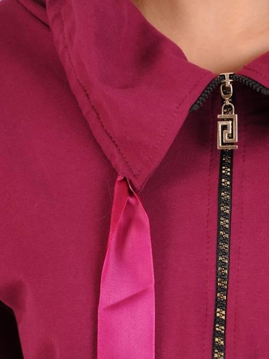 Fioletowy dres damski, wygodne spodnie z bluzą zapinaną na zamek 29643