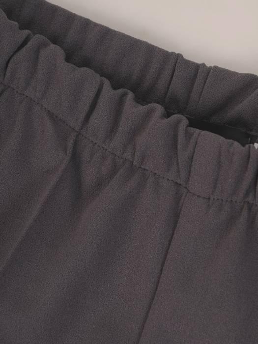 Grafitowe spodnie z gumką w pasie 27326