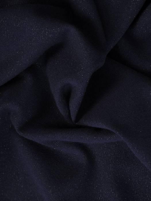 Granatowa sukienka z asymetryczną ozdobną falbaną 26914