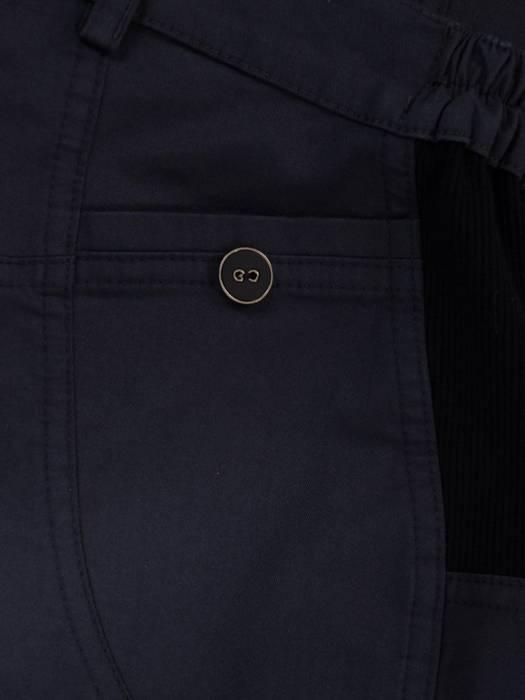 Granatowe spodnie damskie z przeszyciami 28096