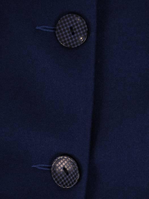 Granatowy, elegancki płaszczyk z optycznie wyszczuplającą linią cięcia 28966