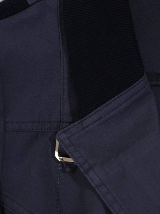 Granatowy żakiet damski z bawełny 28102