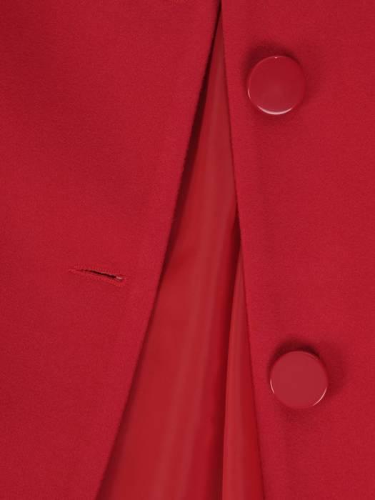 Jesienny płaszcz damski zapinany na guziki 27804