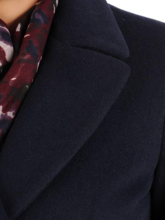 Klasyczny płaszcz damski jesienno zimowy w kolorze granatowym 27798