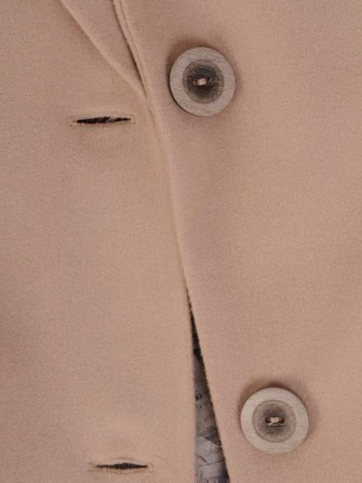 Klasyczny, wełniany płaszcz z kołnierzem 27029