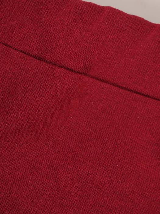 Komplet damski, bordowa spódnica z bluzką 28861