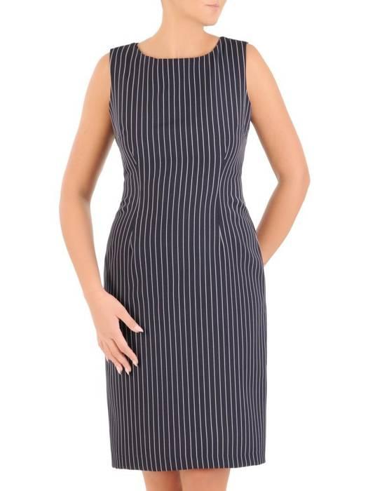 Komplet damski, prosta sukienka z krótkim bolerkiem 27472