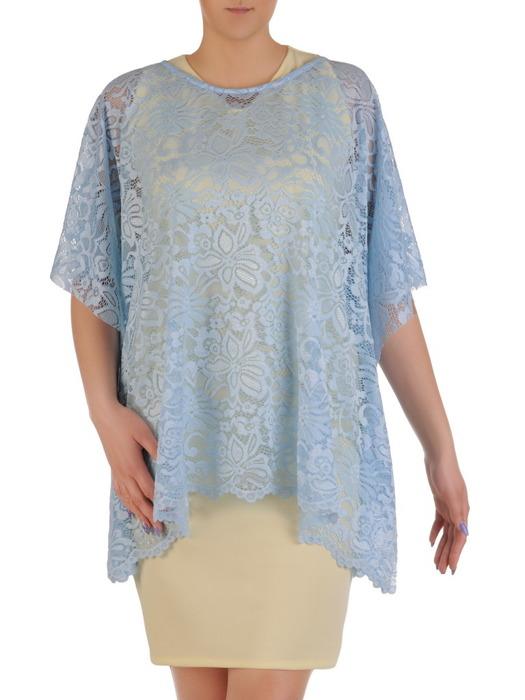 Komplet damski, prosta sukienka z luźną koronkową narzutką 20450.