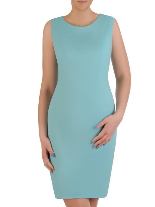 Komplet damski, prosta sukienka z luźną szyfonową narzutką 20460.
