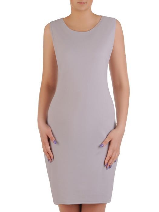 Komplet damski, prosta sukienka z luźną szyfonową narzutką 20461.