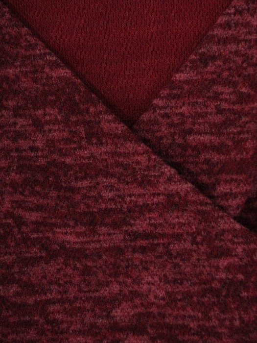 Kopertowa sukienka z melanżowej dzianiny 24122