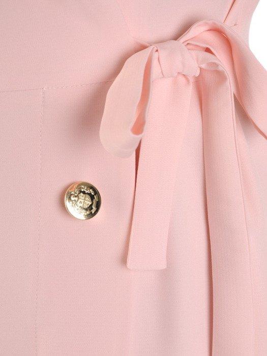 Kopertowa sukienka z modnym, dwurzędowym zapięciem 20033