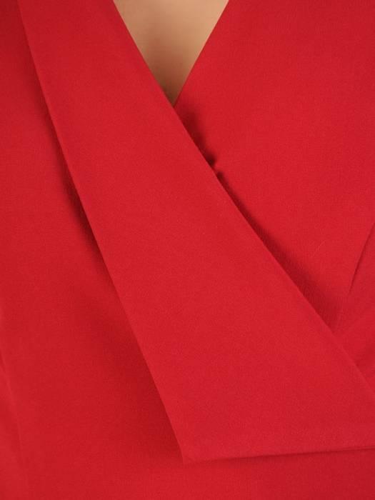 Kopertowa sukienka z ozdobną klamrą, kreacja z kieszeniami 30094