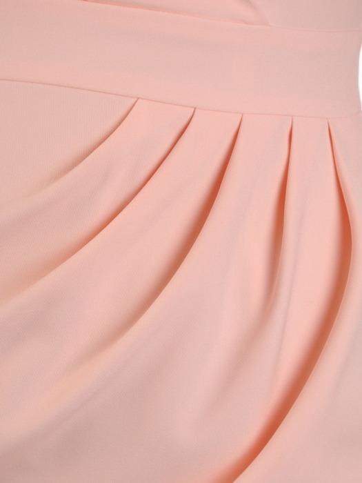 Kopertowa sukienka z wyszczuplającymi zakładkami 21357