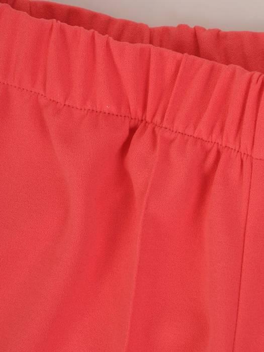 Koralowe spodnie z gumką w pasie 27327