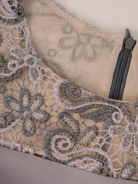 Kostium damski, prosta sukienka z koronkowym żakietem 21602.