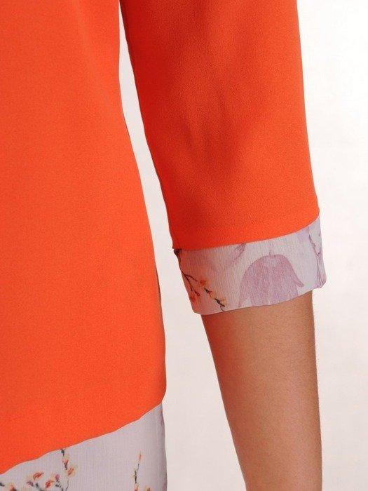 Kostium damski, zwiewna sukienka z żakietem 26218
