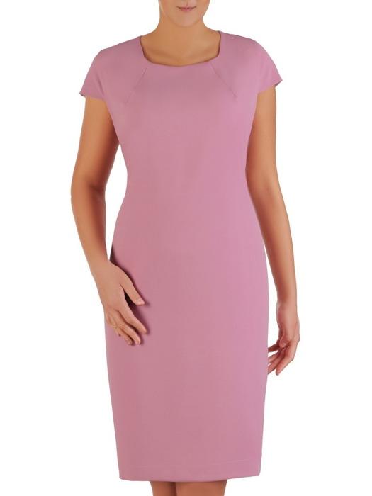 Kostium na wesele, elegancka sukienka z koronkową narzutką 22927