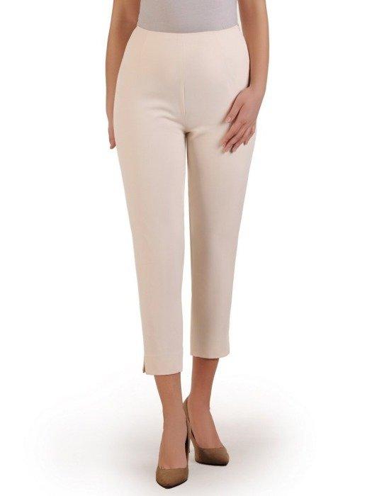 Kremowe spodnie cygaretki 25759