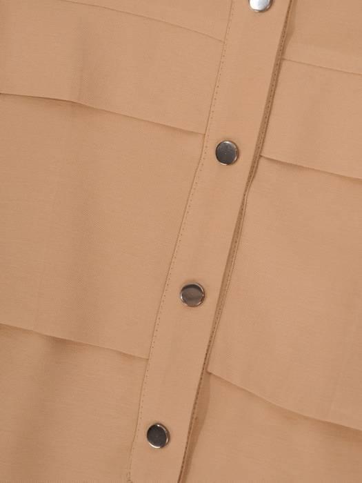 Letnia, przewiewna sukienka w kolorze beżowym 29650