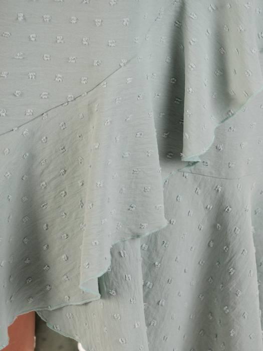 Letnia sukienka z asymetryczną falbaną na dole 30380
