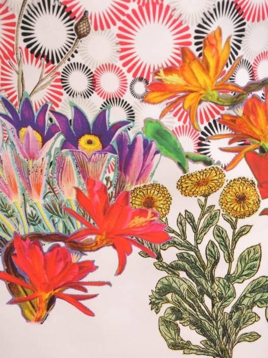 Letnia sukienka z bawełnianej tkaniny, kreacja w kwiaty 30198