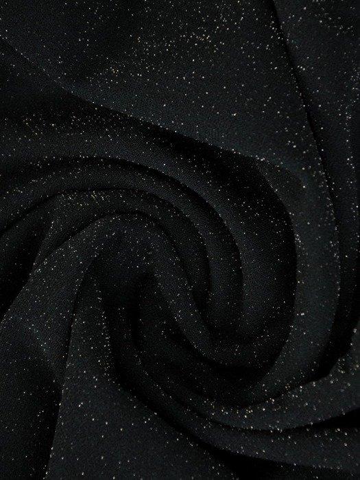 Luźna sukienka z kieszeniami, kreacja z połyskującej dzianiny 22657