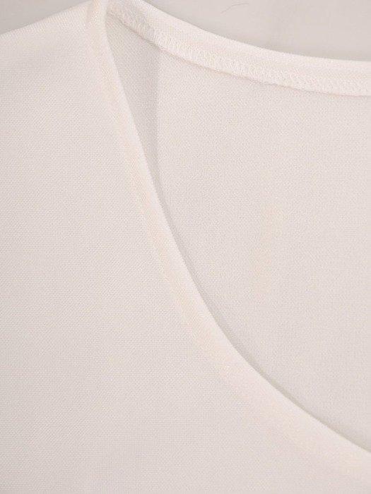Luźna sukienka z połyskującej dzianiny, kreacja z kieszeniami 22800