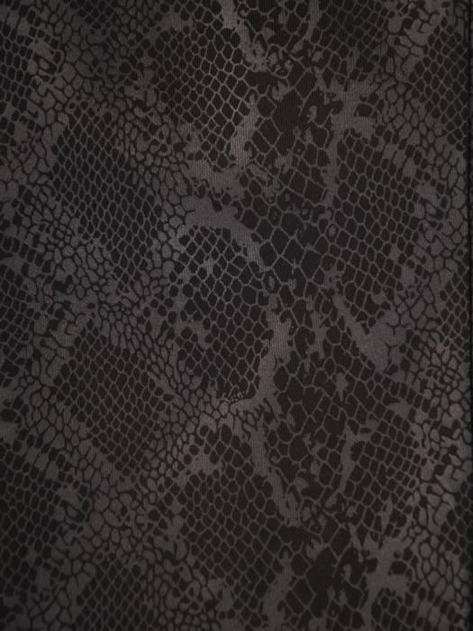 Luźny, czarny żakiet w nowoczesnym zwierzęcym wzorze 27722