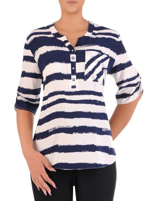 Modna bluzka w marynarskim stylu 26579