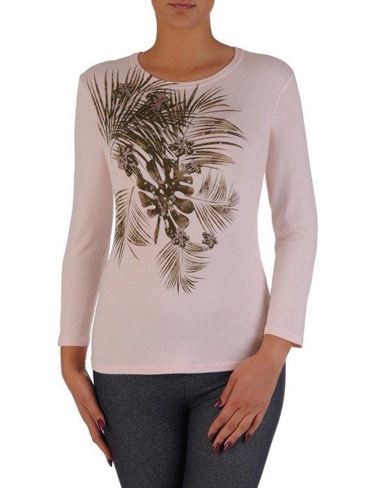 Modna bluzka z połyskującym wzorem 18015.