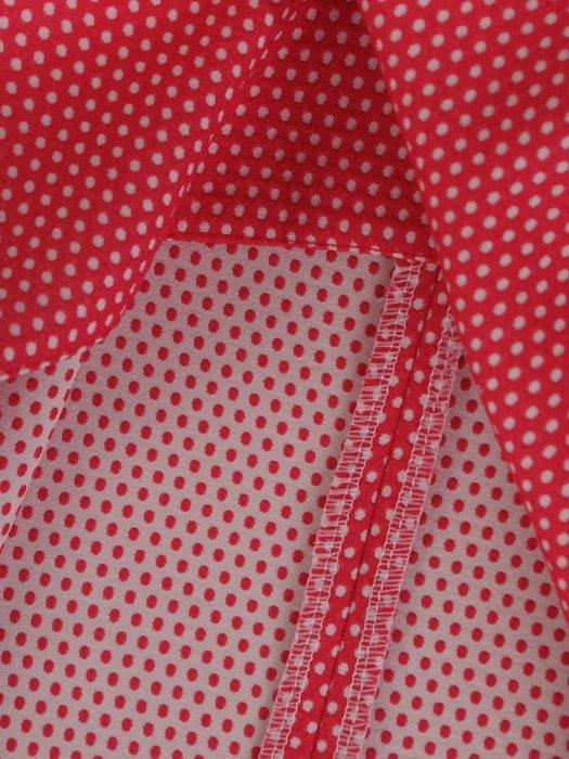 Modna, rozkloszowana spódnica z wzorzystej tkaniny 15411.