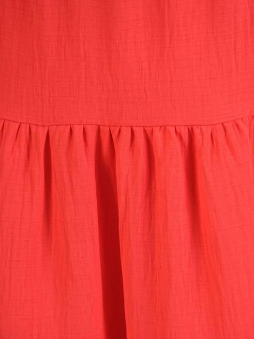 Modna sukienka midi, rozkloszowana kreacja z falbanami 28876