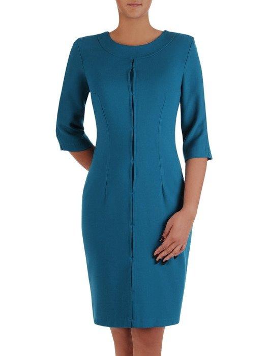 Modna sukienka z ozdobną, wyszczuplającą listwą Janeta I.