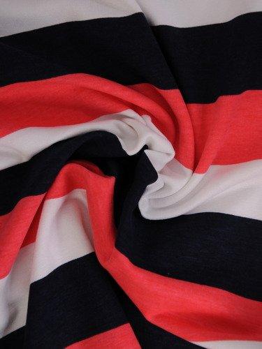 Nowoczesna bluzka w kolorowe paski 16411.