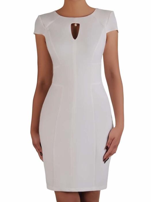 Nowoczesna sukienka z ozdobnym wycięciem przy dekolcie 20862.