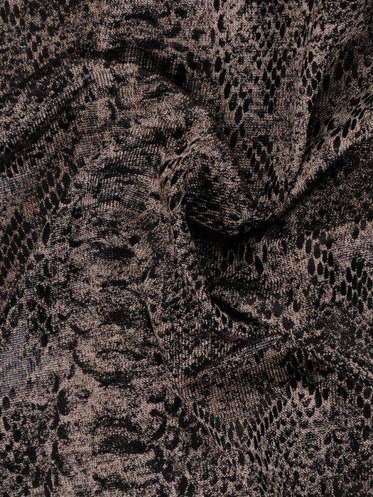 Nowoczesna sukienka z wzorzystym, luźnym topem 19245