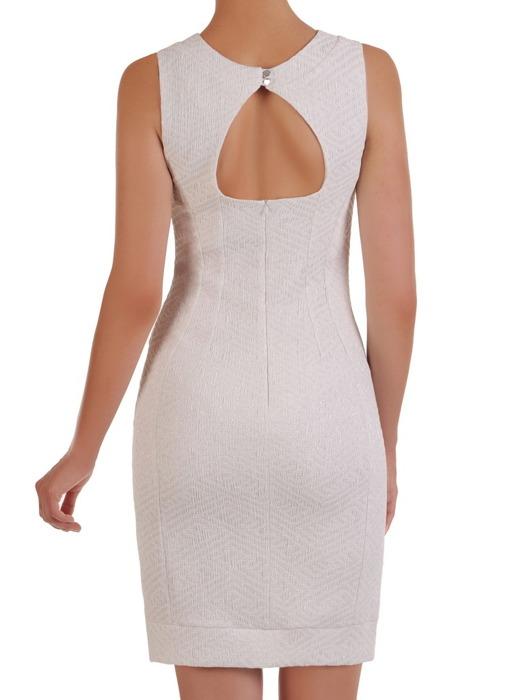 Nowoczesna sukienka z żakardowej tkaniny, prosta kreacja z wytłaczanym wzorem 21460