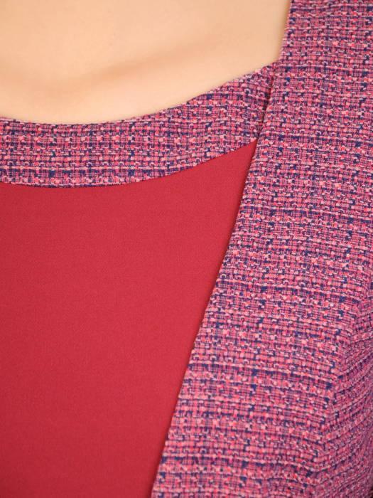 Nowoczesna, wyszczuplająca sukienka z ozdobnym wiązaniem w talii 30699