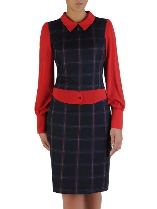 Oryginalna sukienka z szyfonowymi rękawami 17250.
