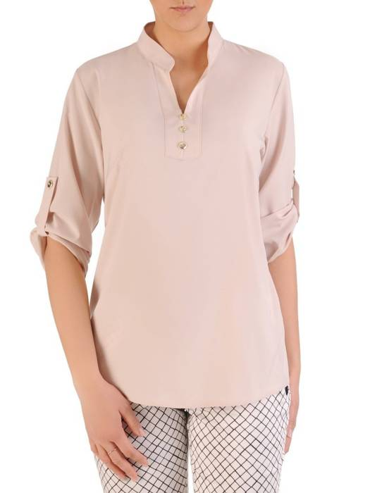 Pastelowa bluzka koszulowa ze stójką 29560