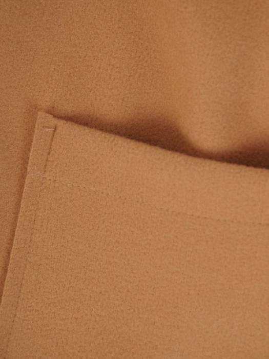 Piaskowy płaszcz damski wiązany w pasie 28726
