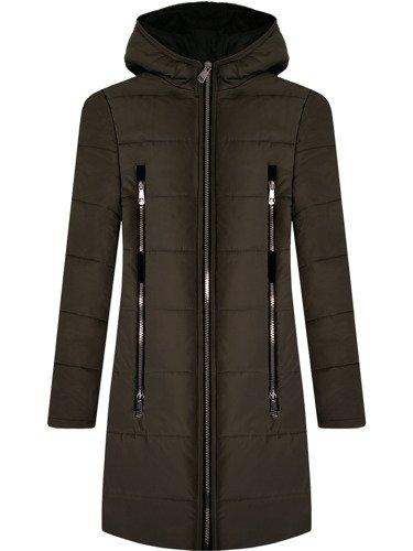 Pikowana kurtka z modnymi suwakami Izolda IV