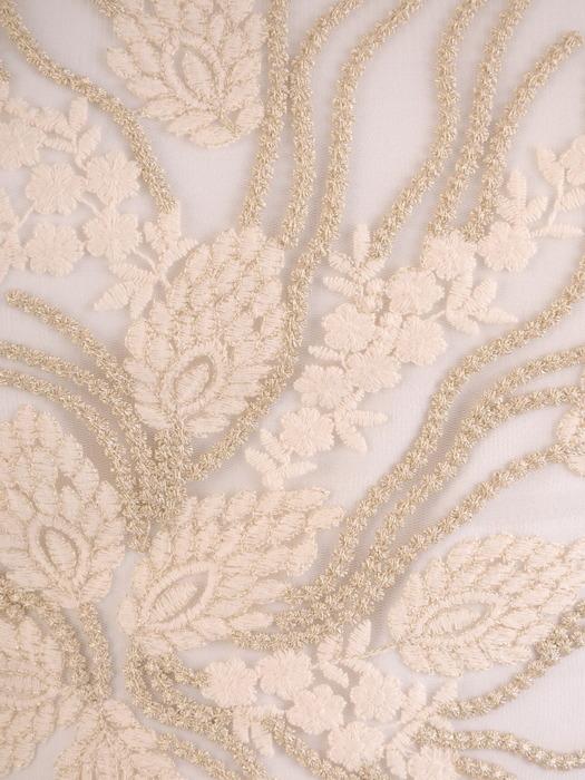Plisowana sukienka na wesele, elegancka kreacja wykończona koronką 21150
