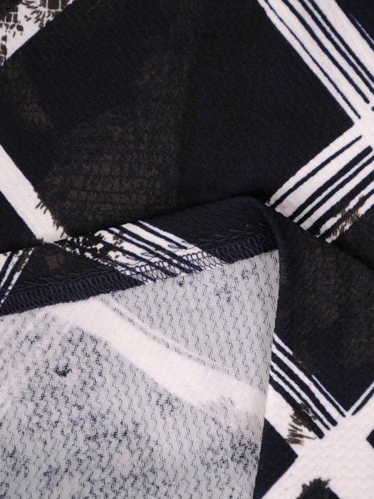 Prosta sukienka w kontrastowy, geometryczny wzór 21912
