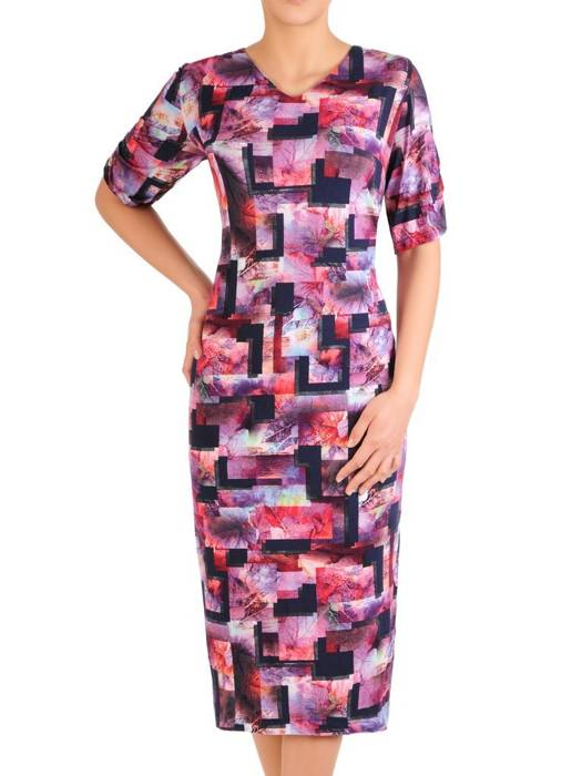 Prosta sukienka wyjściowa w oryginalny wzór 29818