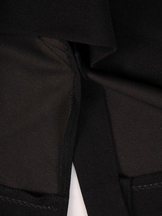 Prosta sukienka z oryginalnym topem, elegancka kreacja wyszczuplająca brzuch 23730